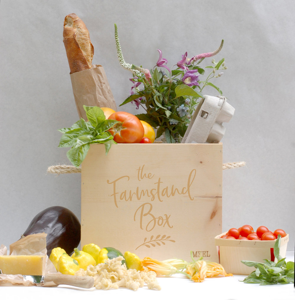 The Farmstand Box is part produce, part pantry staples, and 100% local. The contents will evolve weekly as the seasons progress, with a few mainstays (details below).