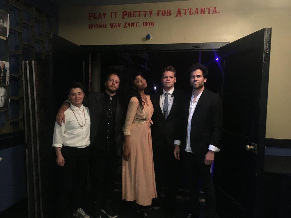 From left: Tiffany Minton (drums), Jason Harris (bass), Adia Victoria, Peter Eddins (keys/sax), Mason Hickman (guitar)