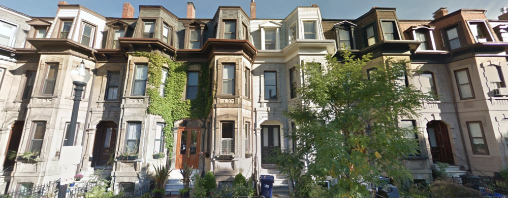 Streetside view of the homes on Wigglesworth Ave. from Google Maps a product of Google Inc.