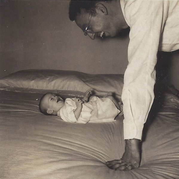 Infant Anita and Dad 1950.jpg