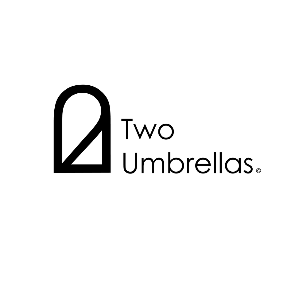 Two Umbrellas Black and White Lock Up