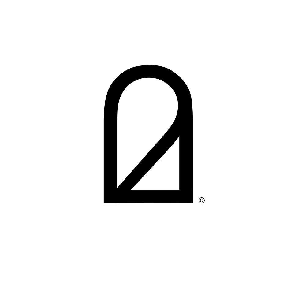 Two Umbrellas Black and White Logo