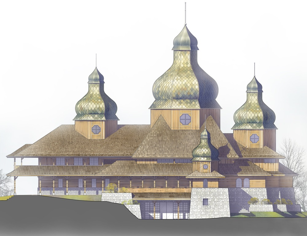 Rendering of St. Elias Church (2016)