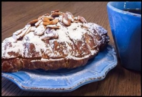 Almond Croissant and Balzac's Coffee