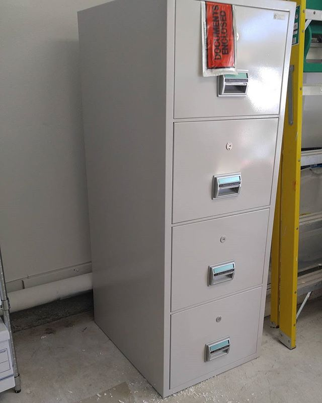 Fire proof file cabinet need to be moved?  No problem!  We can handle it.  #moving #ventura #camarillo #oxnard #uniquemovinginc