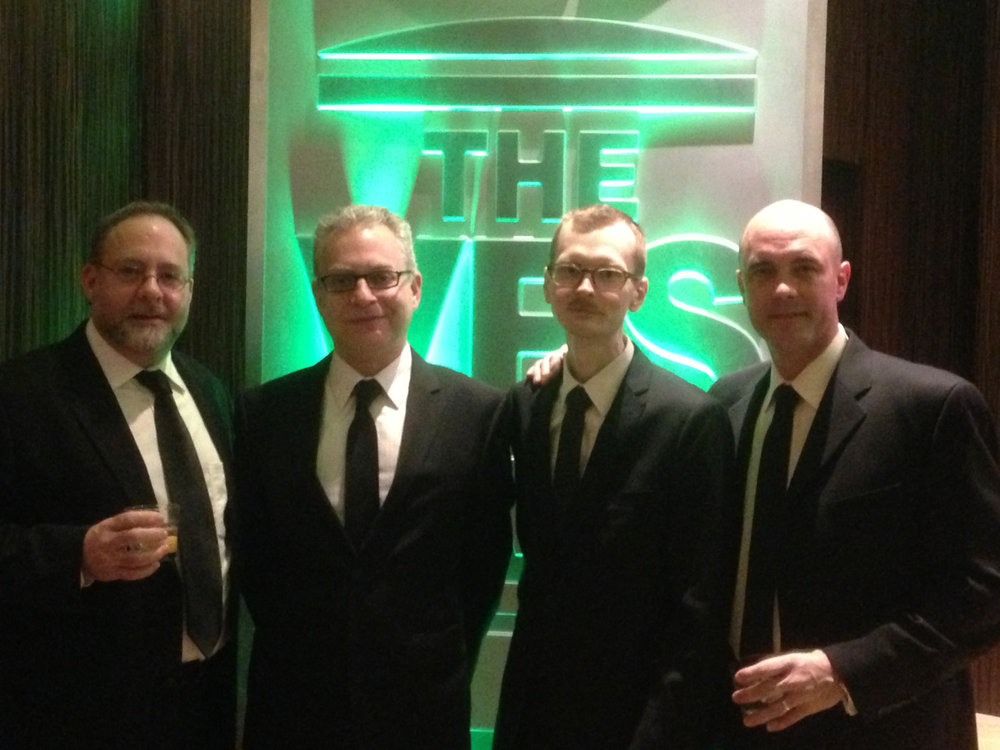 The Brainstorm Digital gentlemen at the 11th annual Visual Effects Society Awards. (from L to R: Richard Friedlander, Eran Dinur, Matthew Conner, Glenn Allen)