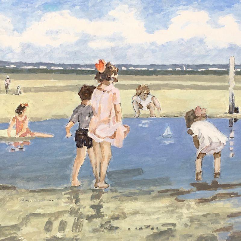 Michele-Gurrado---Pittore---Sulla-spiaggia---2008---olio-su-tavola---35x55-compressor.jpg