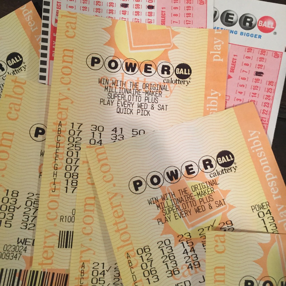Our losing Powerball tickets.
