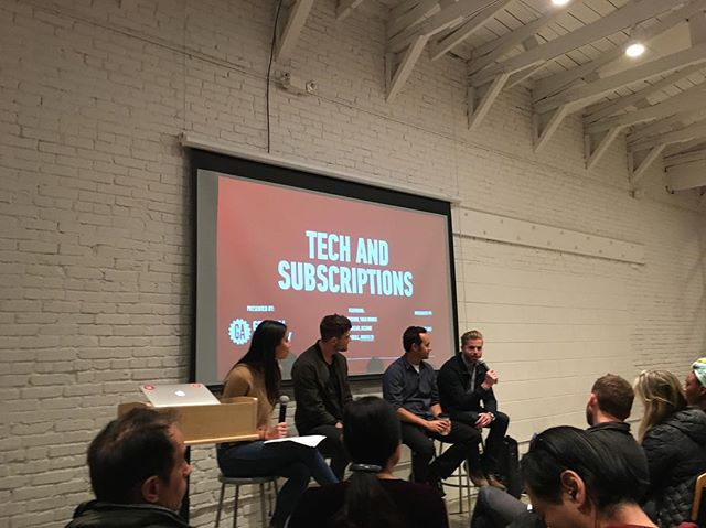 Last night there was an excellent panel on Tech and Subscriptions. This business model will continue to evolve through innovation.