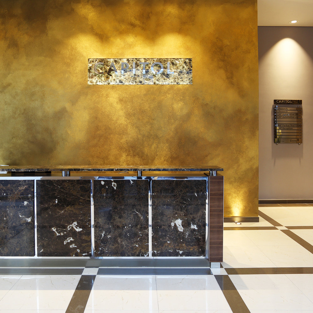 Metallic gold texture Polished Plaster Leeds