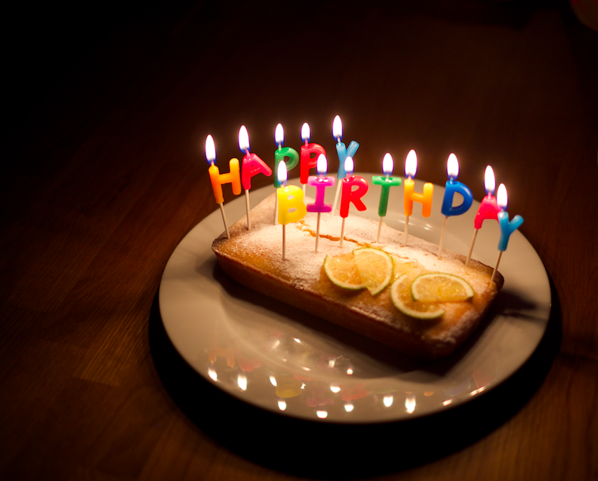 Add some thin slices of lime or lemon and some cute Happy Birthday candles :)