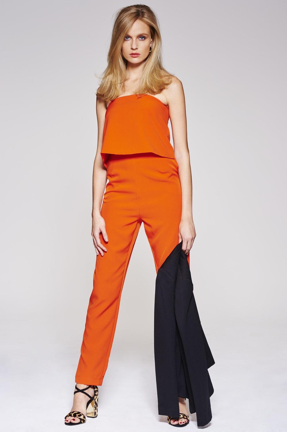 Black fitted blazer, £60,  Nine by Savannah Miller at Debenhams     Bandeau jumpsuit, £27,  Lavish Alice     Leopard print shoes, £79,  Dune