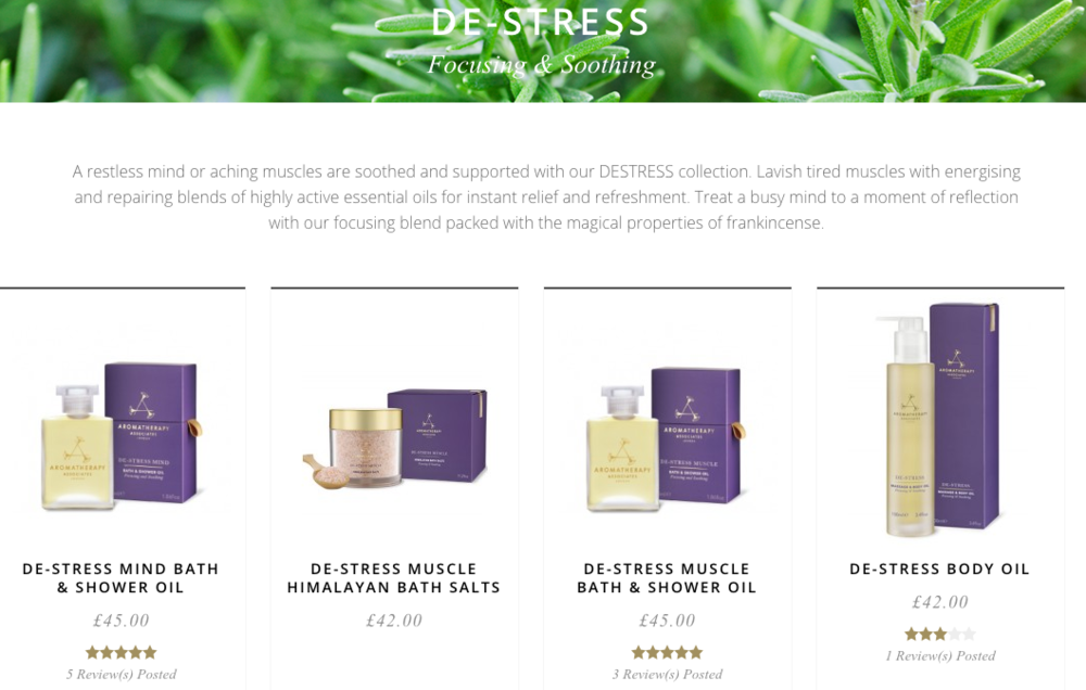 Buy the De-Stress range   here