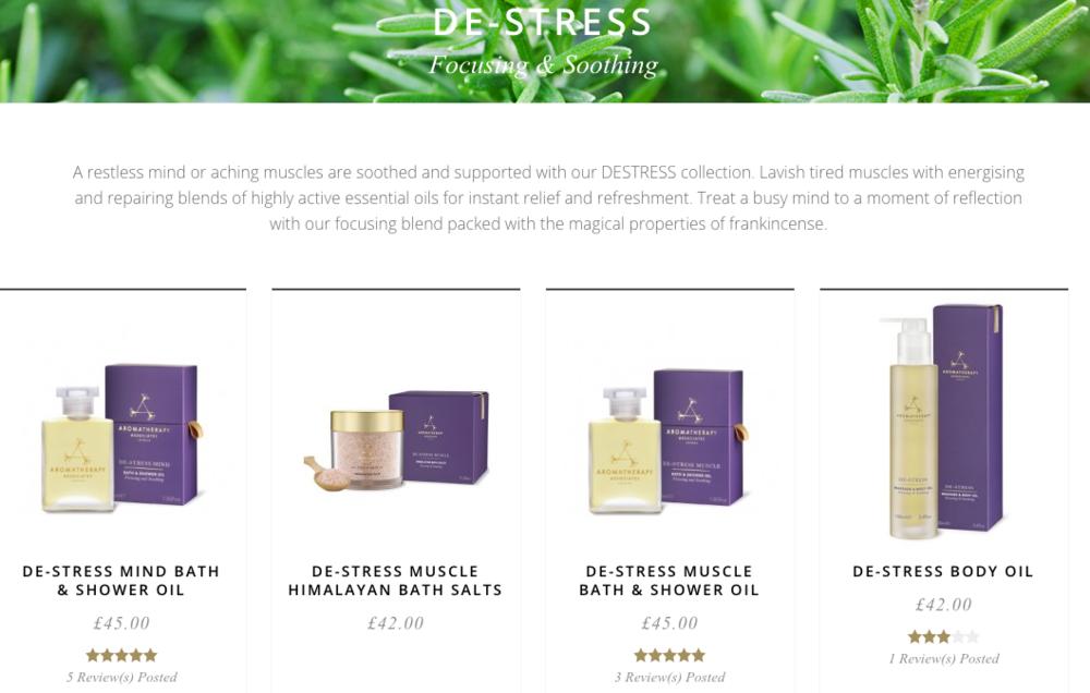 Buy the De-Stress range   here