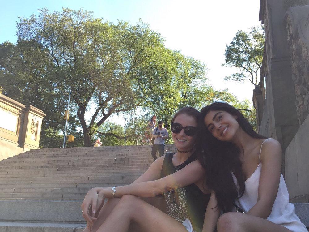 Enjoying the New York sunshine in Central Park