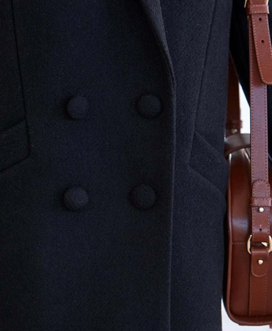 Jagger Coat  in Black