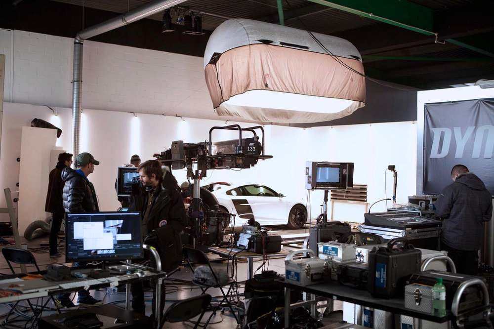 BTS from the first Audi R8 Evolution - Revolution spot