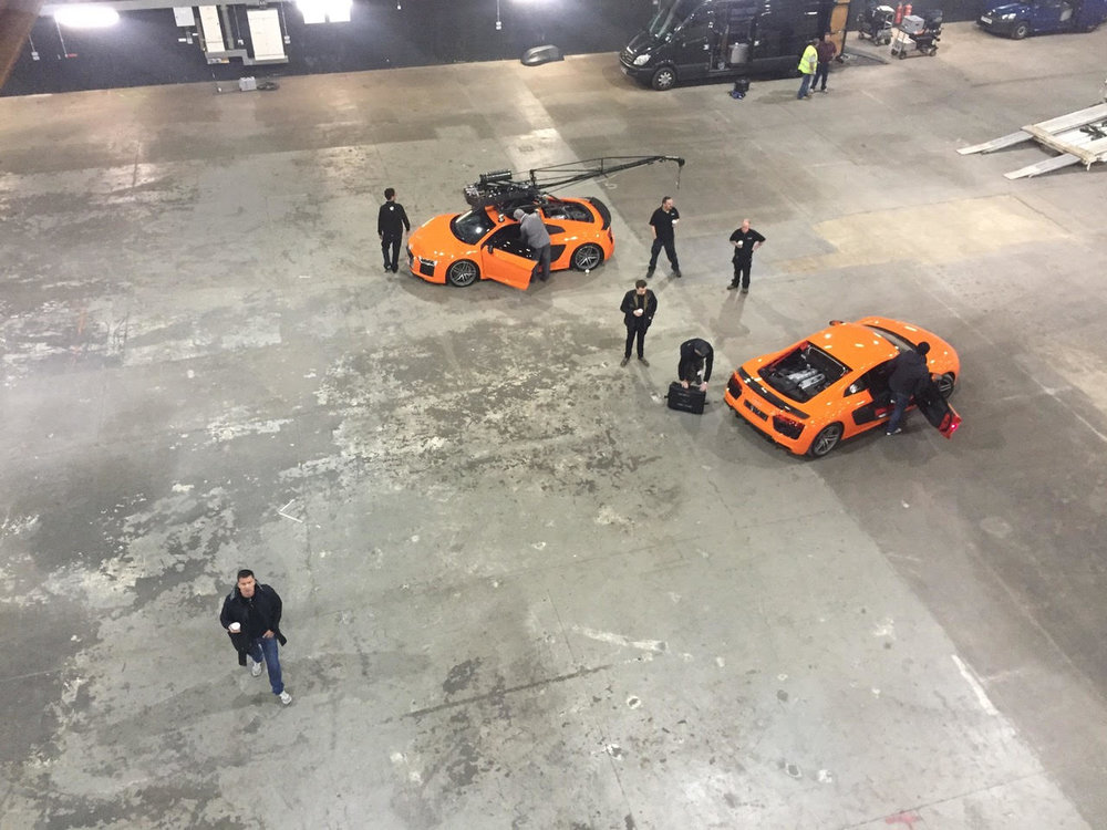 BTS from above at Warner Brothers studios in London