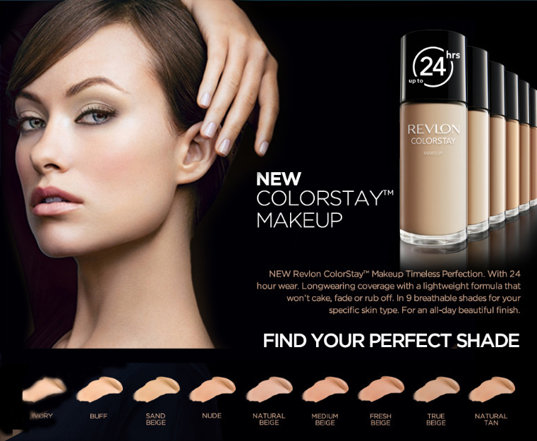 The stunning  Olivia Wilde  as the face of Revlon's ColorStay foundation