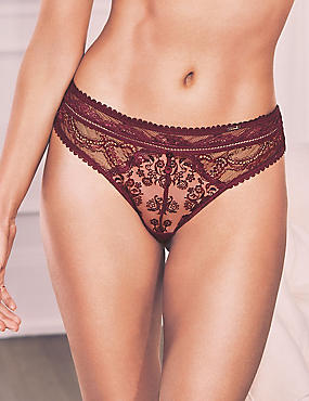 historical embroidered thong - £14