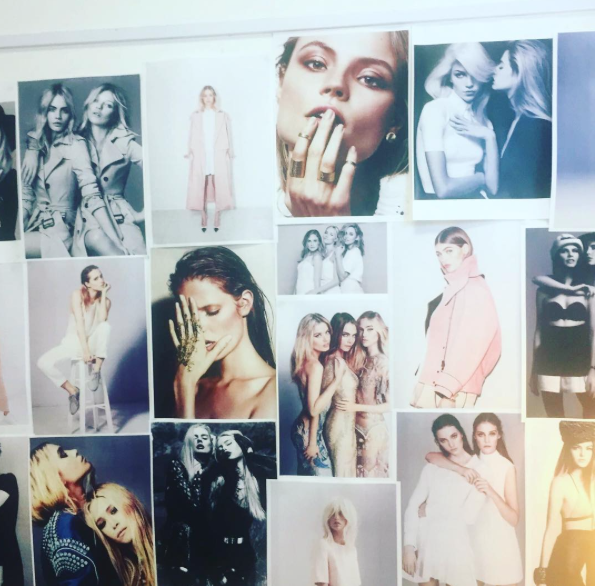 The mood board for the photoshoot. Can you see  The 4 Of Us  in the middle there? Or its more like the 3 of us... :p