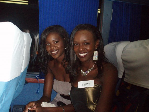 Miss Namibia and Kenya who was in my group, whom I also spent a lot of time with :)