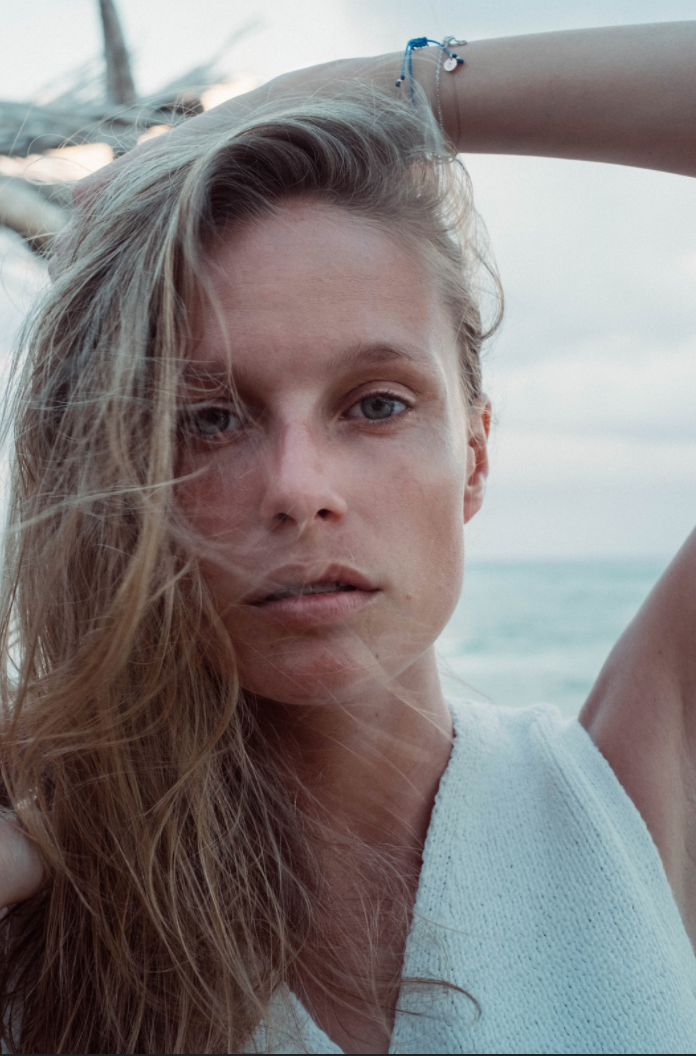 This was shot in Tulum, Mexico last year. Just me, tanned and without any make up