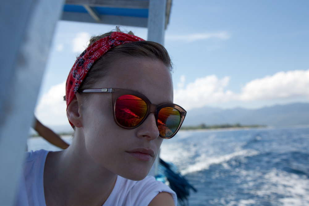 Snorkeling trip around the Gili Islands in Indonesia. Sunnies by   Le Specs, Half Moon Magic