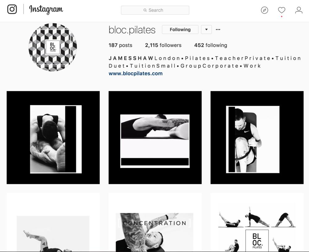 Instagram: @   bloc.pilates