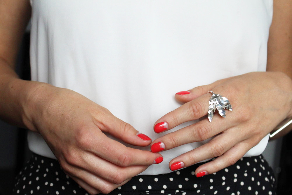 Nails by Shoreditch Nails. Ring by Glitzbox