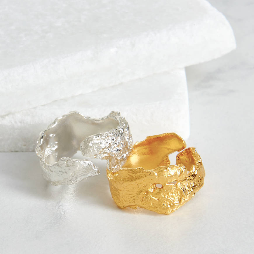 Sterling Silver Bark Ring   by   Deborah Blyth Jewellery