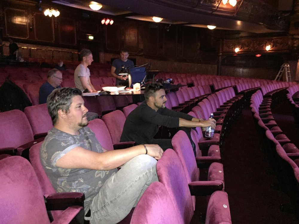 Chris and Ben during their tech rehearsal before their concert performance at The Palladium just over a year ago