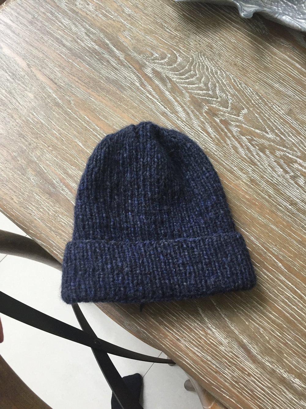 So here is as far as I have gotten with my knitting project - my second ever beanie (but the first one that has been  wearable, hehe)