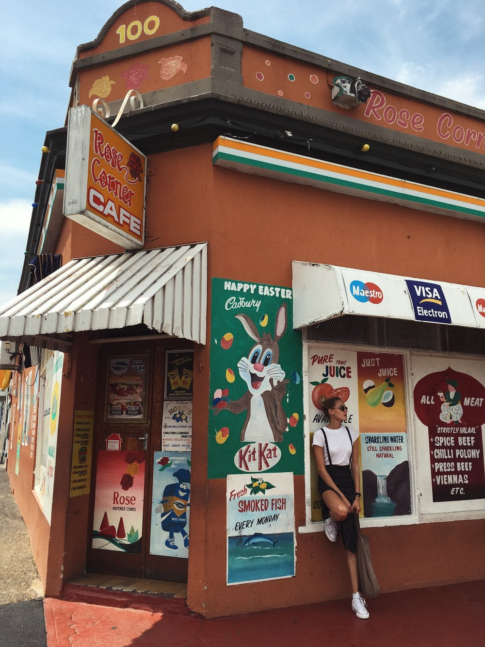 The famours rose corner cafe at Bo Kapp