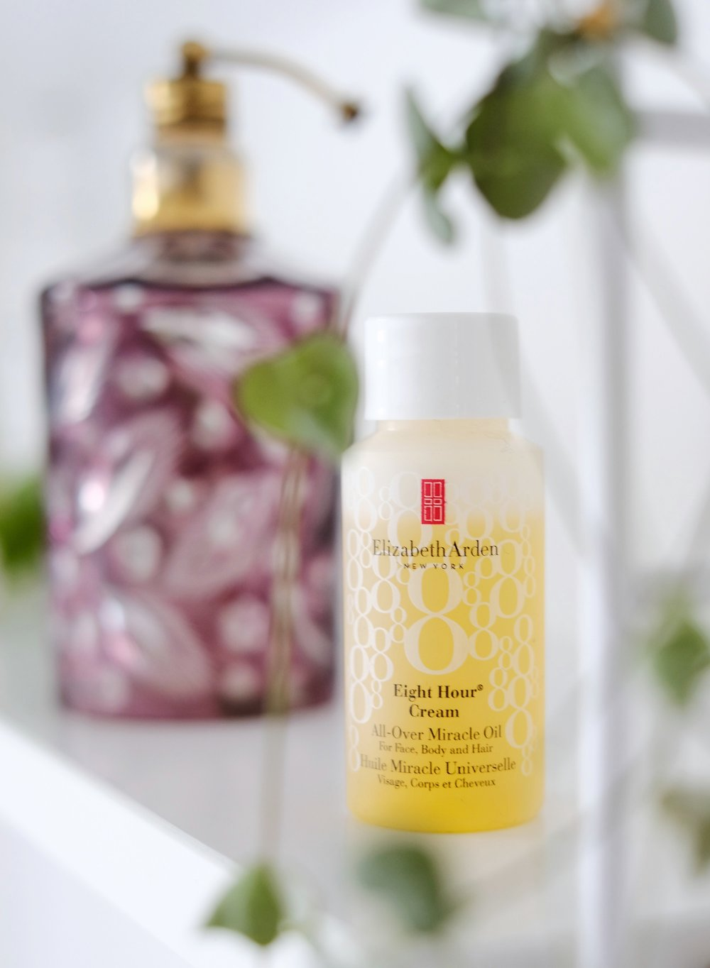 1. Elizabeth Arden Eight Hour All-Over Miracle Oil - This is actually a travel size oil which I had bought at the airport, which is great. It's not only for your face and body, you can also use it to tame frizzy hair and little flyaways. A little goes a long way and I find the oil light and silky and it applies very easily to my body. Get the100ml bottle for £29 here