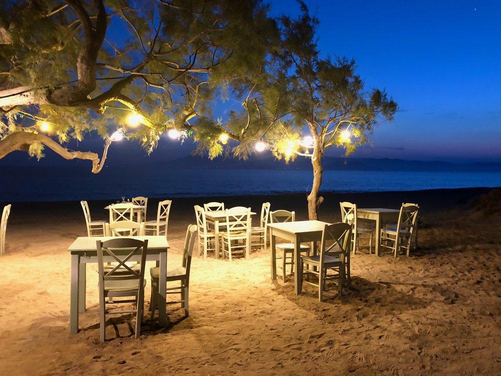 Paradiso Tavern after sunset
