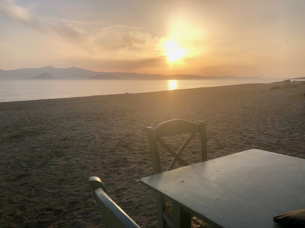 Paradiso Tavern during sunset