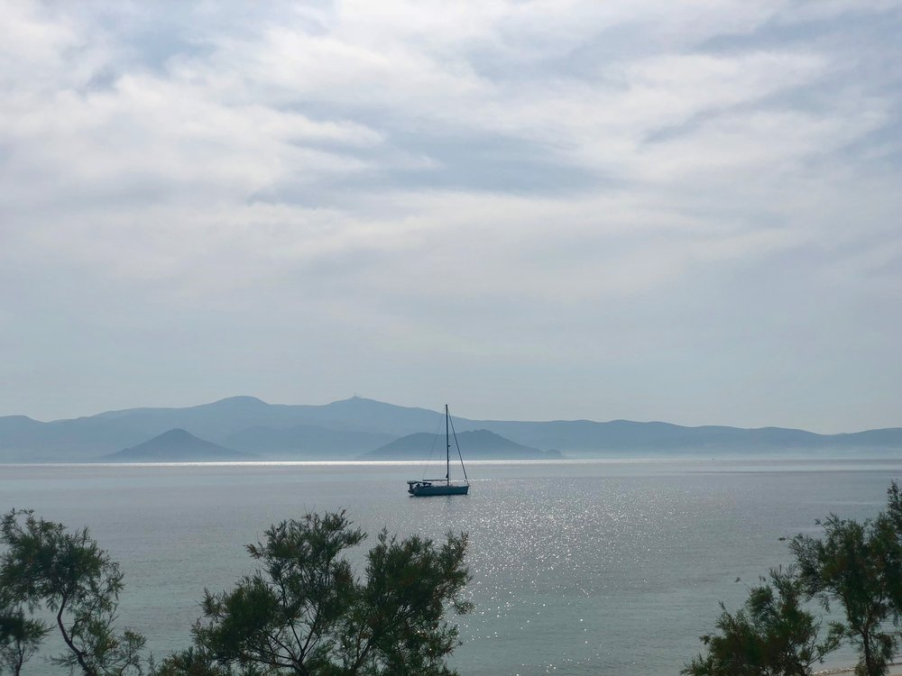 The view from Naxos (Agia Anna)