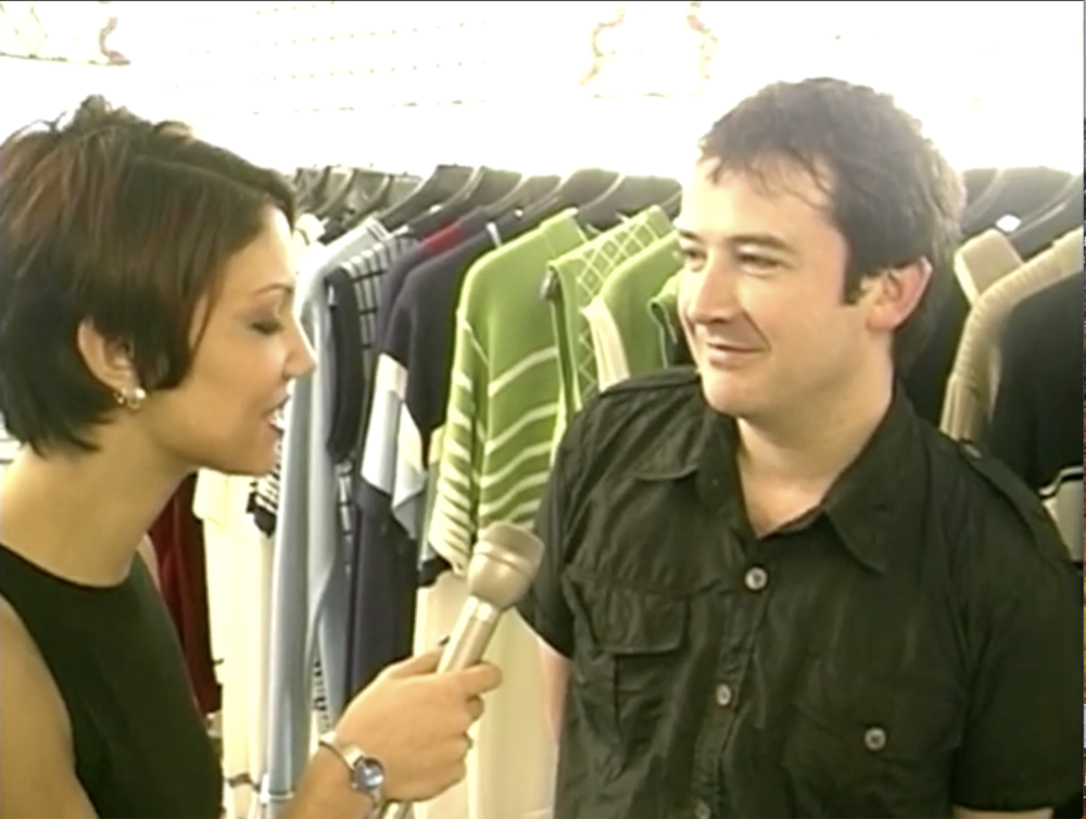 Screen shot from an interview with Stuart about All Saints from 1996 - watch the video   here!