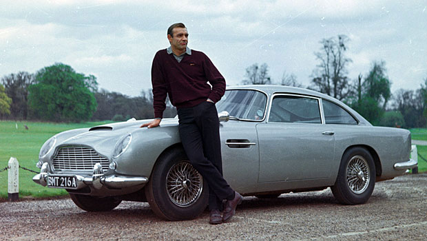 Sean Connery as James Bond here with the Aston Martin DB7