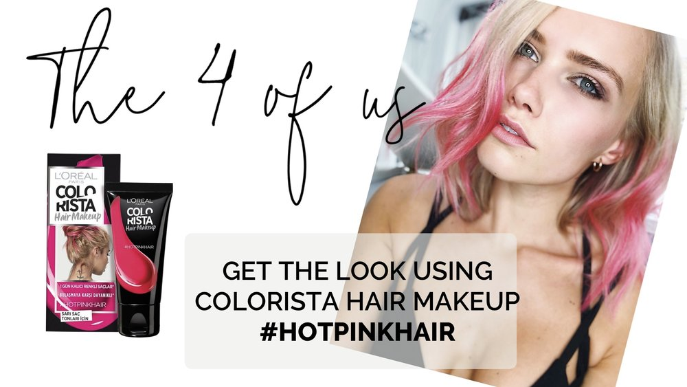 Update! - Update! I have now also tested out the shade #HOTPINKHAIR which showed up way better in my blonde hair. I also styled it properly after applying the hair makeup, giving my hair a pink ombre beach wave look. You can watch this video here!