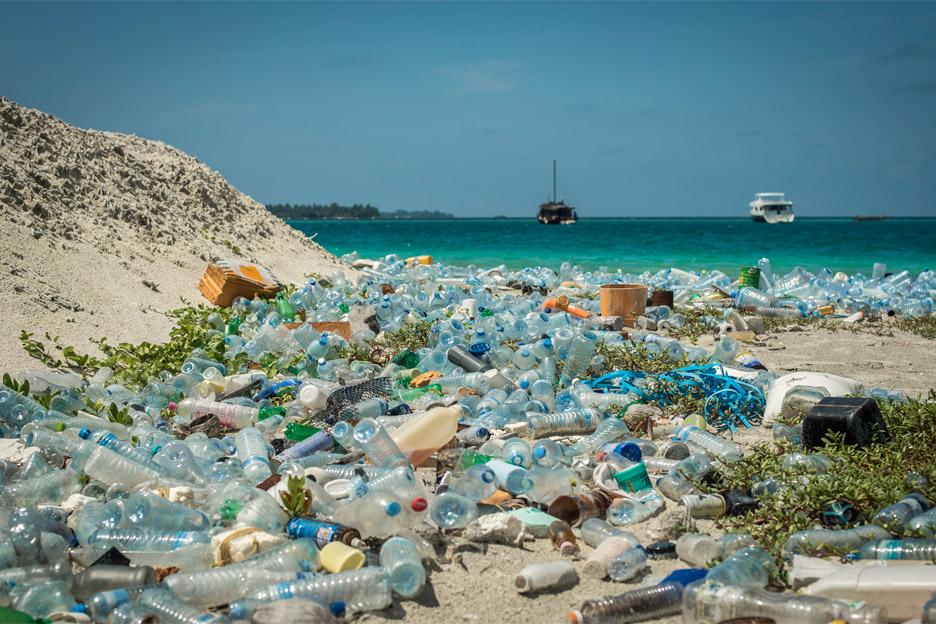 A GLOBAL CRISIS - Plastic accumulating in our oceans and on our beaches has become a global crisis. Billions of pounds of plastic can be found in swirling convergences that makes up about 40% of the world's ocean surfaces. At current rates plastic is expected to outweigh all the fish in the sea by 2050. (www.biologicaldiversity.org)