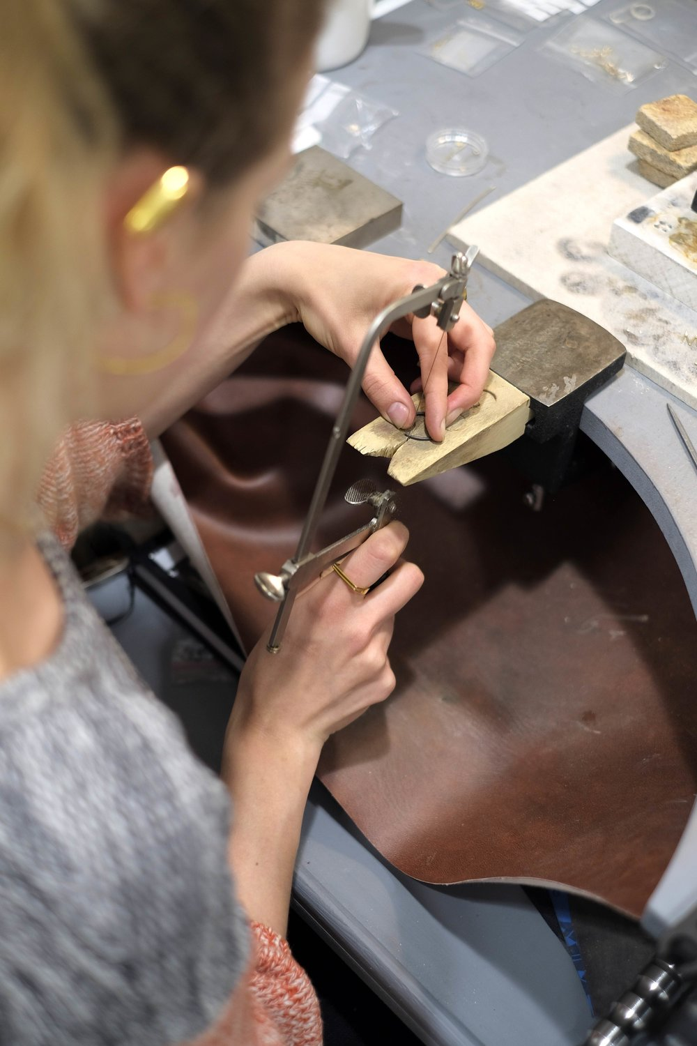 - Having jewellers in-house is not only great for commissioned pieces, but it also allows us to offer quick amendments and/or special requests for the jewellery we sell on site. Maybe you will spot a jeweller at work next time you come around!