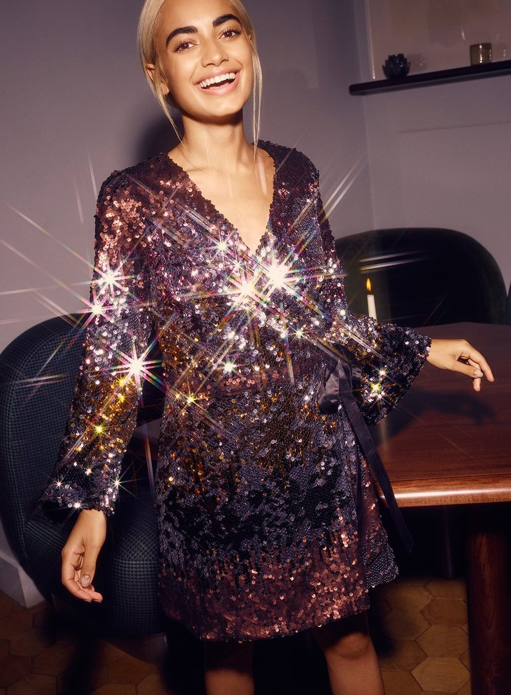 Ombre Sequin Dress from Miss Selfridge -  Shop here!