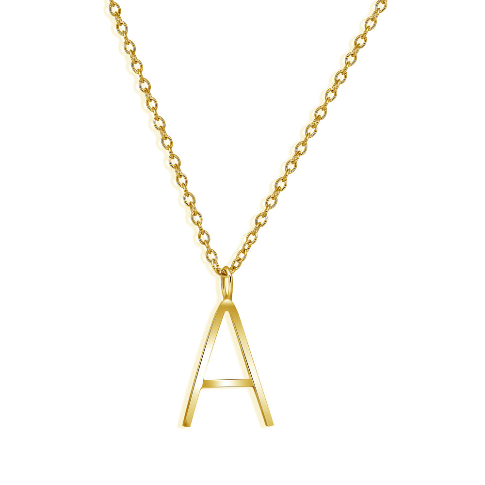 Alphabet Necklace - For a more personalised Christmas gift, we have a range of Alphabet charm necklaces that can be mixed and matched with elegant gems and birthstones. Zsanett picked a silver 'Z' with long 925 sterling silver chain that fits her beautifully.