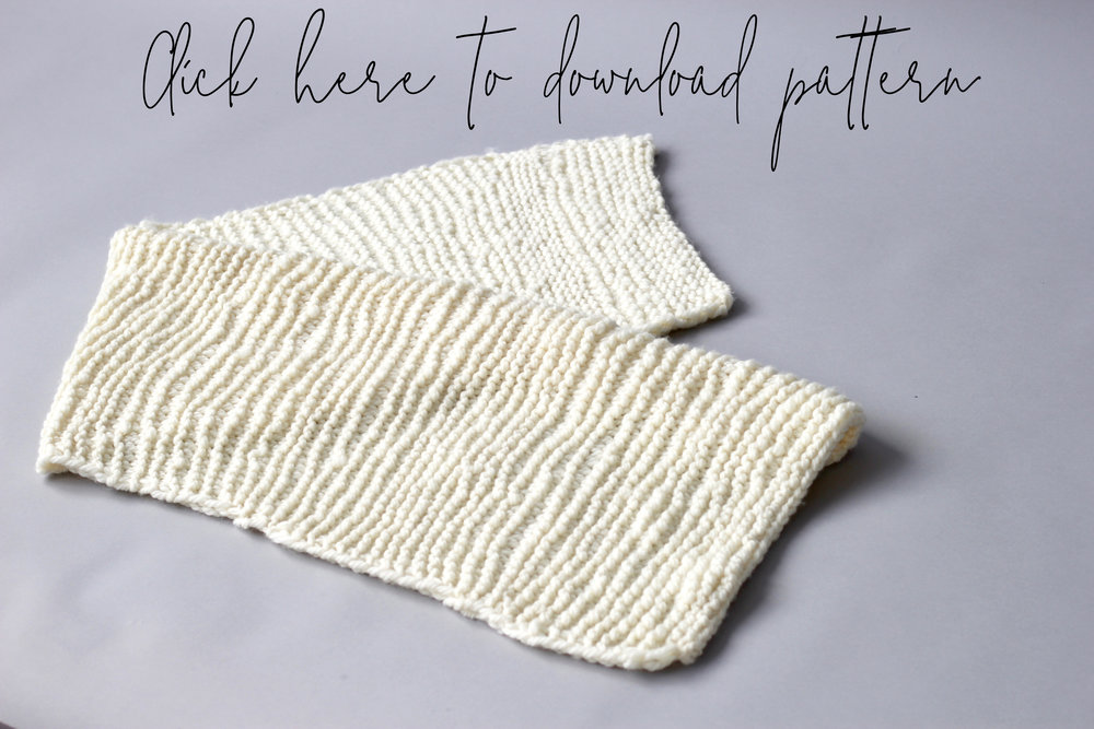 Scarf for beginners - Free Knitting Pattern