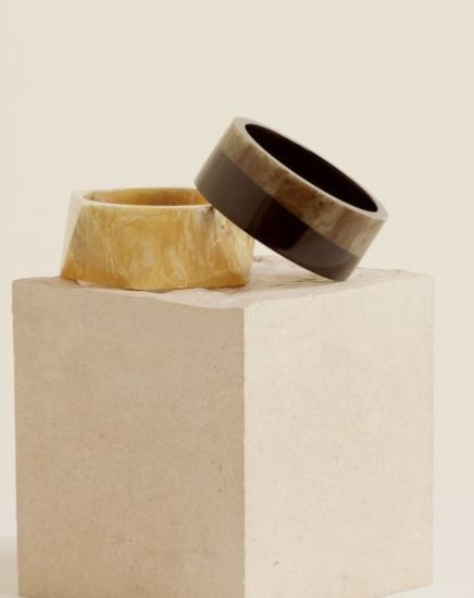Resin bracelet set from Mango