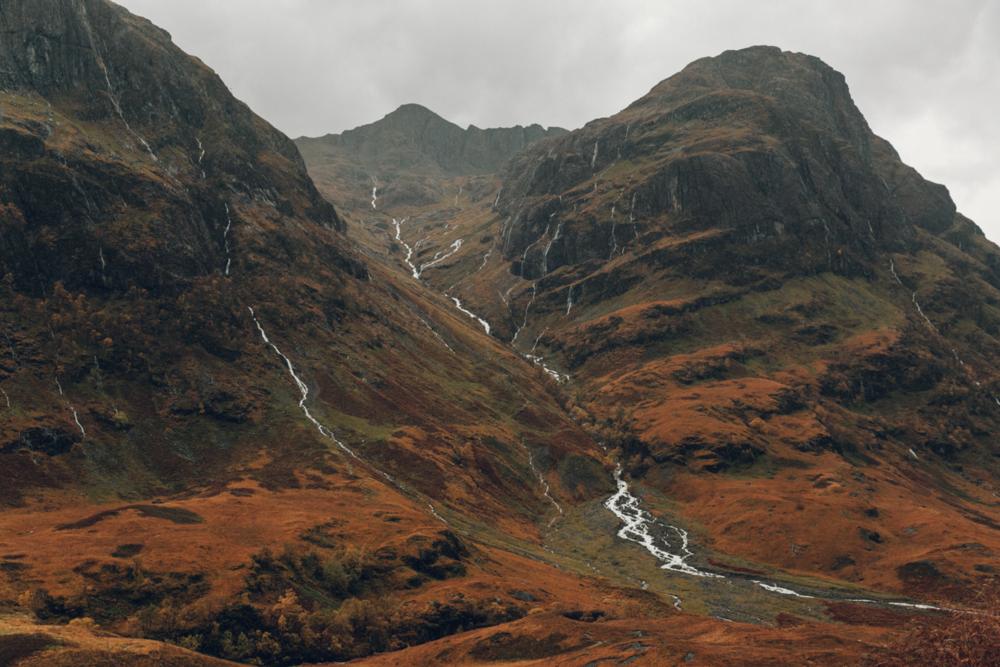 Haarkon Glencoe Mountain Nevis Hills Scotland