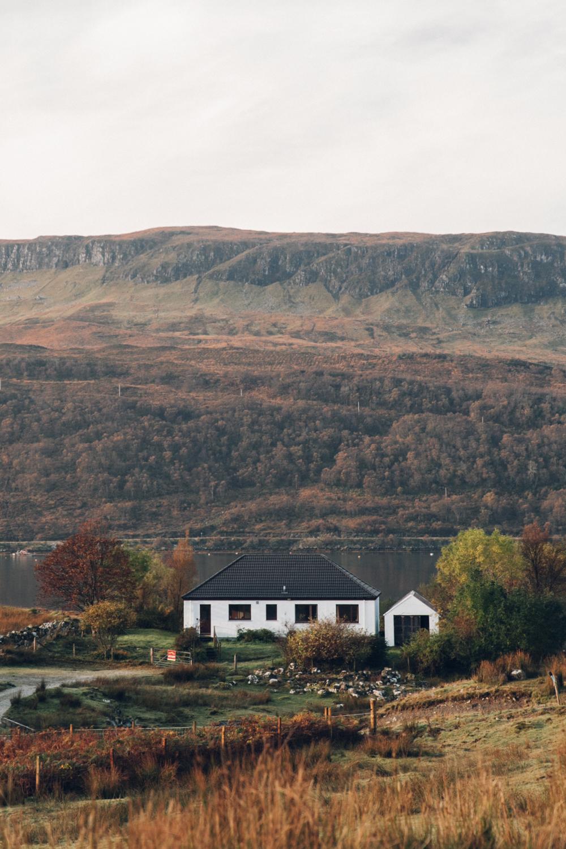 Haarkon House Home Building Farm Skye Scotland Loch Water