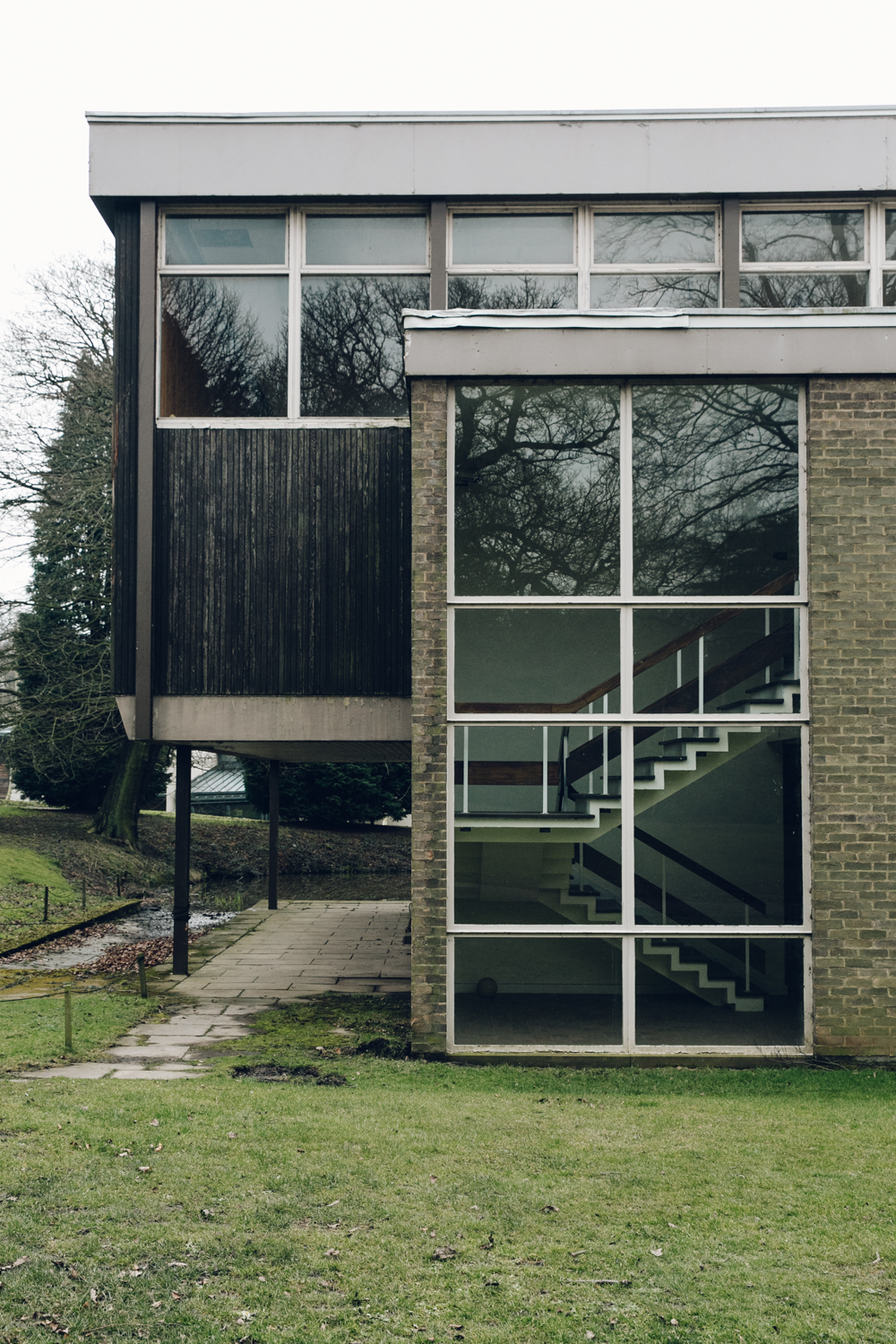 Haarkon Bretton Hall Campus School College Architecture Modernist Building Wood Yorkshire Sculpture Park Staircase